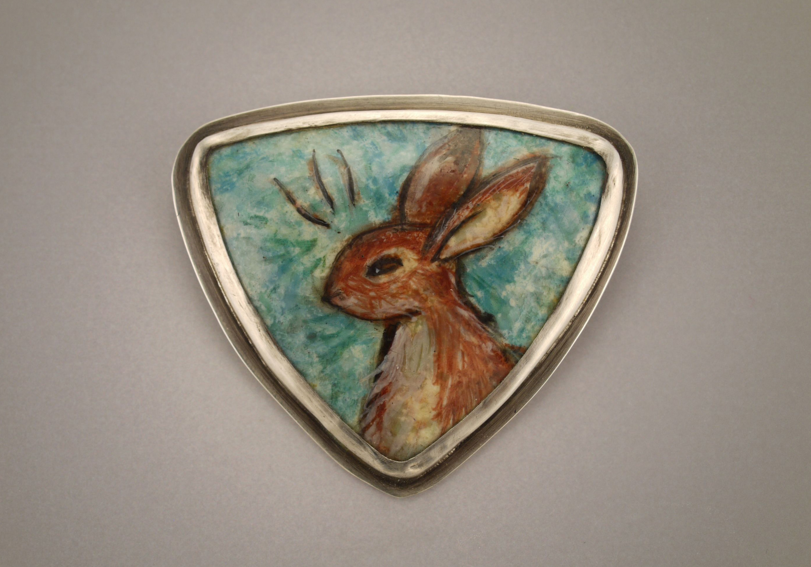 Painted Rabbit Pin