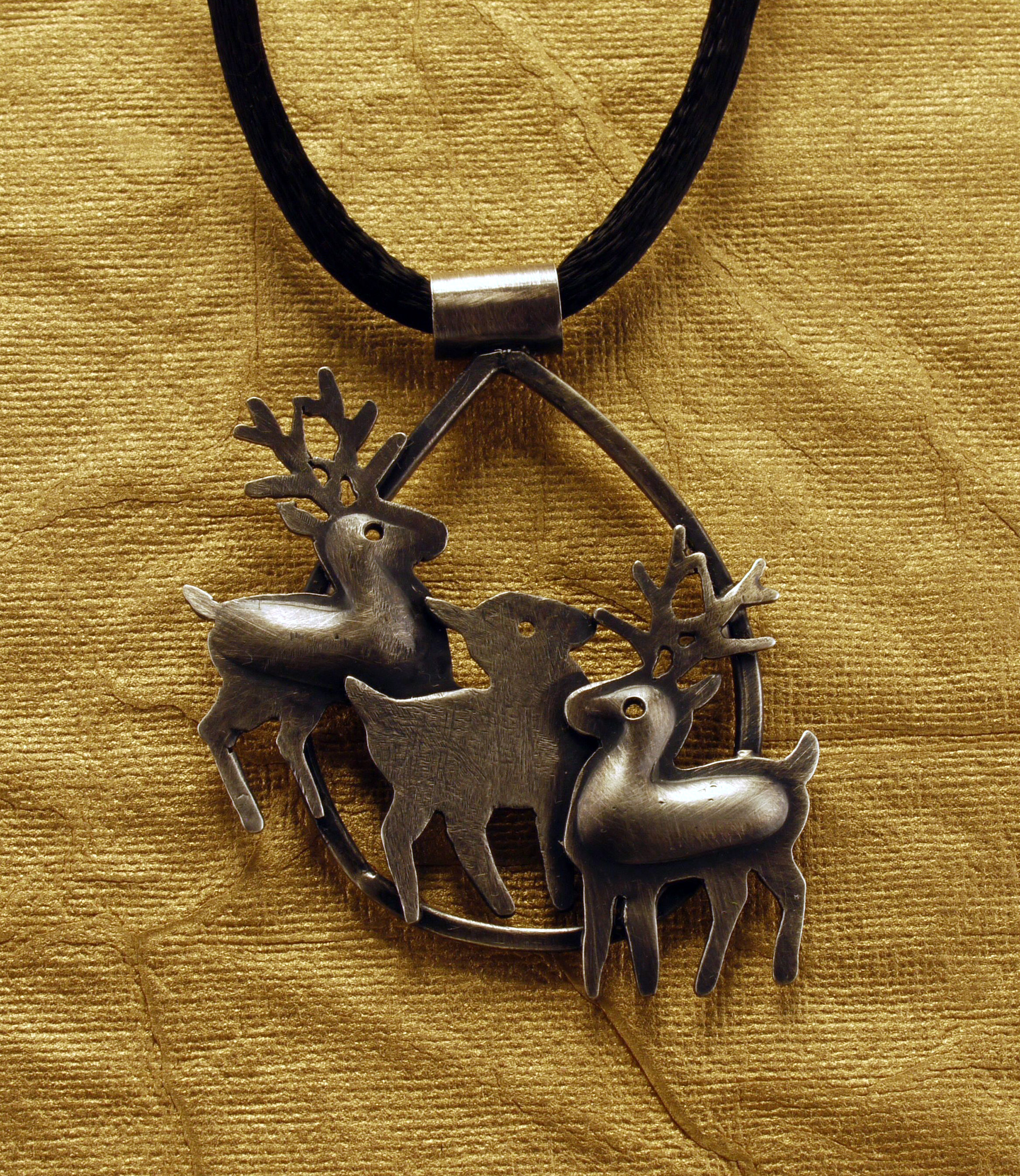 Three Deer Pendant