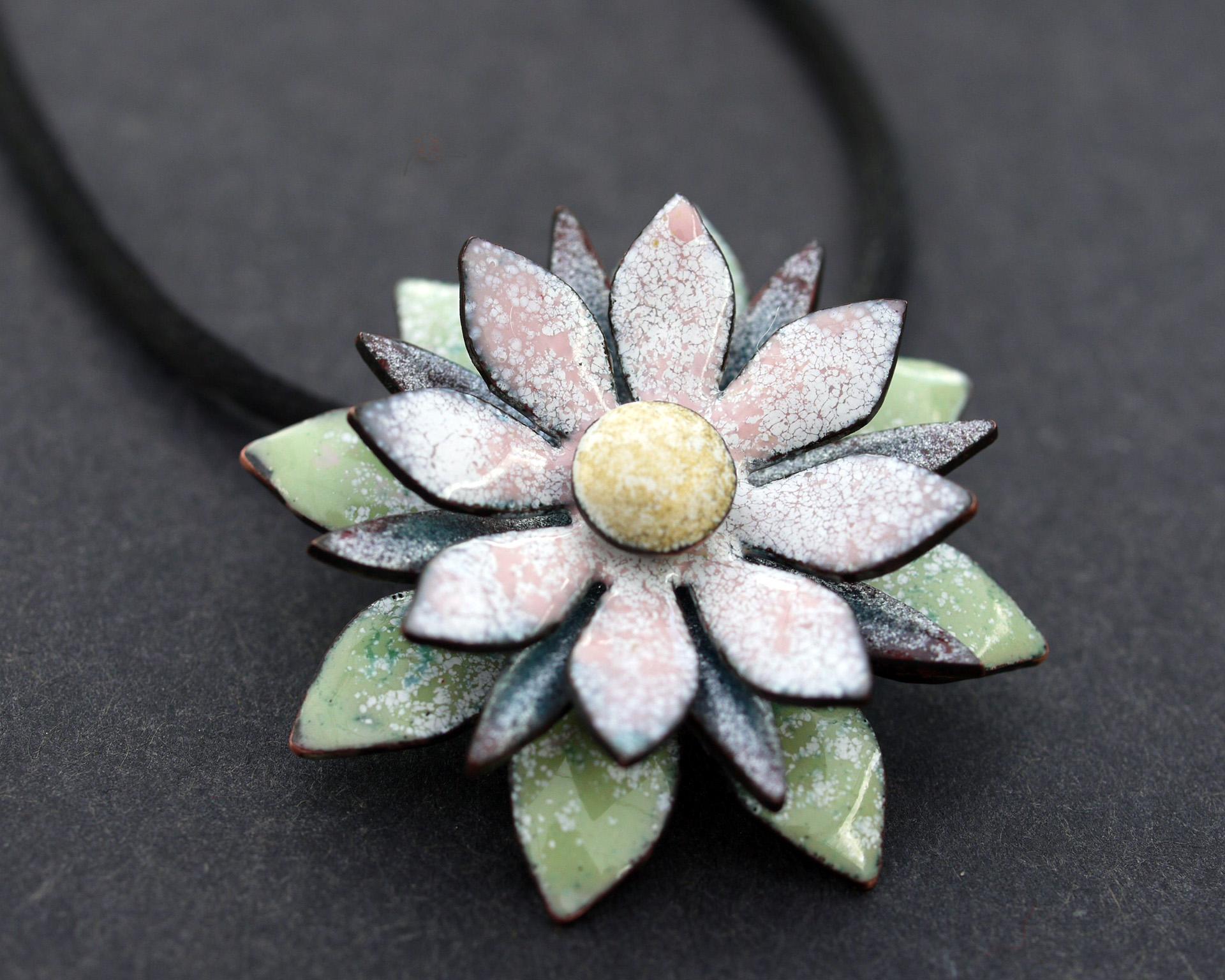 Pastel Enamel Flower